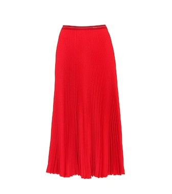 Prada - Pleated twill midi skirt - mytheresa.com