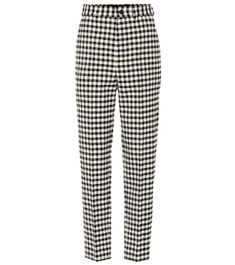 Balenciaga - High-waisted checked pants - mytheresa.com