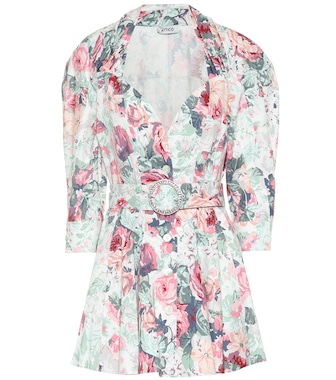 The Attico - Floral-printed cotton minidress - mytheresa.com