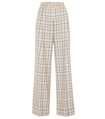 See By Chloé - Checked high-rise straight pants - mytheresa.com