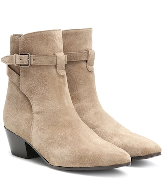 Saint Laurent - West Jodhpur 40 suede ankle boots - mytheresa.com
