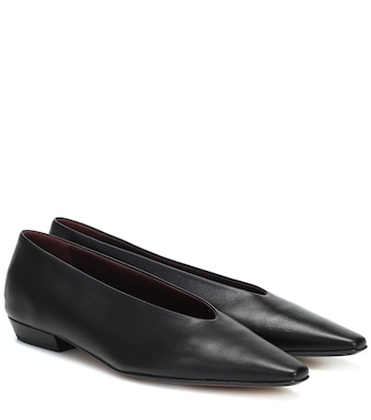 Bottega Veneta - Almond leather ballet flats - mytheresa.com