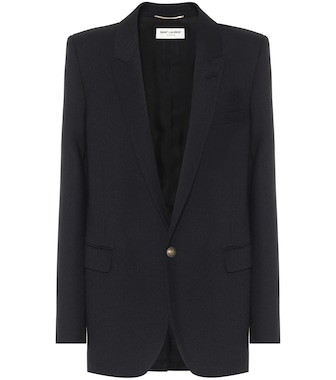 Saint Laurent - Blazer de lana virgen de botonadura simple - mytheresa.com