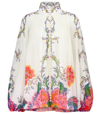 Zimmermann - Lovestruck cotton and silk blouse - mytheresa.com