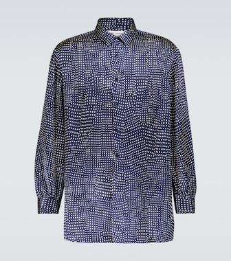 Saint Laurent - Polka-dot long-sleeved silk shirt - mytheresa.com