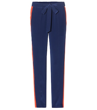 Tory Burch - Desmond silk trousers - mytheresa.com