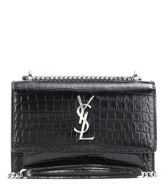 Saint Laurent - Sunset embossed leather shoulder bag - mytheresa.com