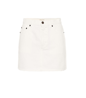Saint Laurent - Denim miniskirt - mytheresa.com