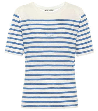 Acne Studios - Megalin striped linen T-shirt - mytheresa.com