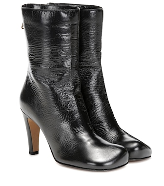 Bottega Veneta - Bloc leather ankle boots - mytheresa.com