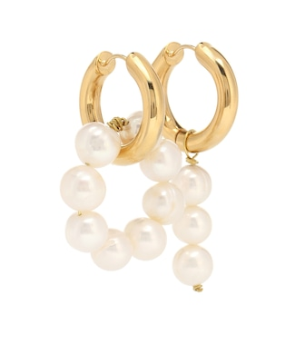 Timeless Pearly - Pearl-embellished mismatched earrings - mytheresa.com