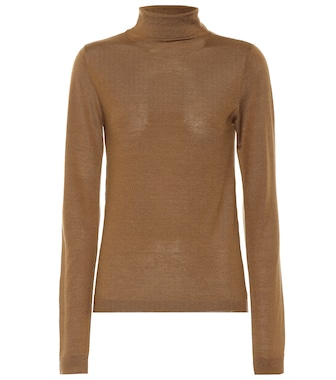 Vince - Wool and silk turtleneck sweater - mytheresa.com