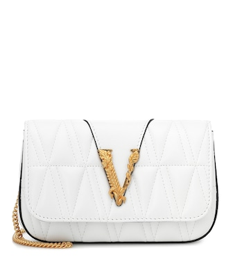 Versace - Virtus quilted leather shoulder bag - mytheresa.com