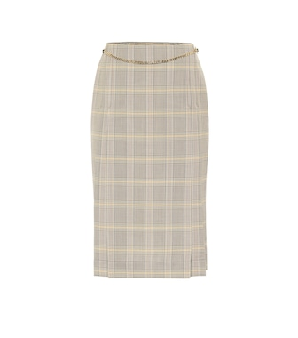 Victoria Beckham - Checked virgin wool skirt - mytheresa.com