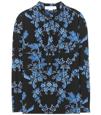 Stella McCartney - Estelle printed silk blouse - mytheresa.com