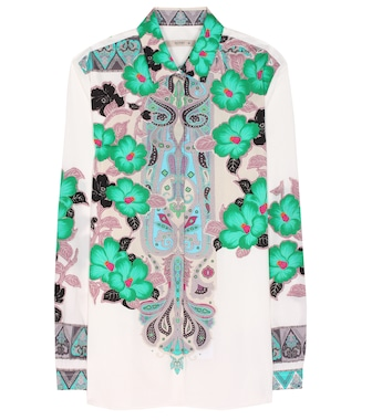 Etro - Printed stretch-cotton blouse - mytheresa.com