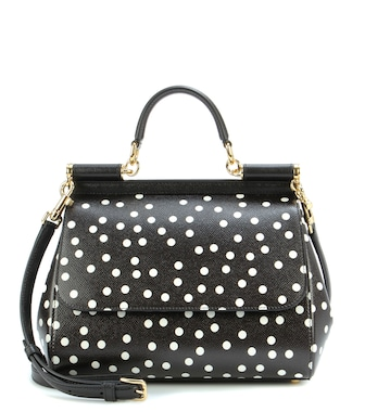 Dolce & Gabbana - Sicily Medium polka-dotted leather shoulder bag - mytheresa.com