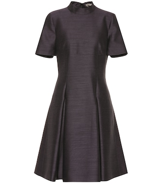 Bottega Veneta - Wool and silk fil-à-fil dress - mytheresa.com