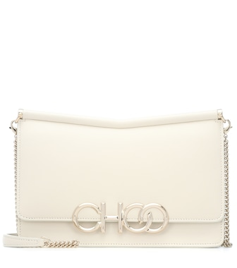 Jimmy Choo - Sidney leather shoulder bag - mytheresa.com