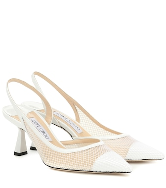 Jimmy Choo - Fetto 65 leather-trimmed pumps - mytheresa.com
