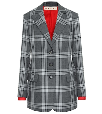 Marni - Checked wool blazer - mytheresa.com