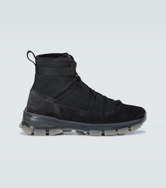 LOEWE - Suede-trimmed hiking boots - mytheresa.com