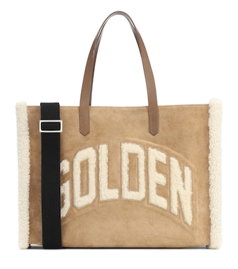 Golden Goose - California shearling and suede tote - mytheresa.com