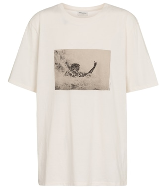 Saint Laurent - Printed cotton T-shirt - mytheresa.com