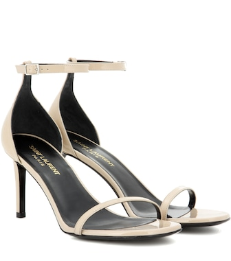 Saint Laurent - Jane 80 patent leather sandals - mytheresa.com