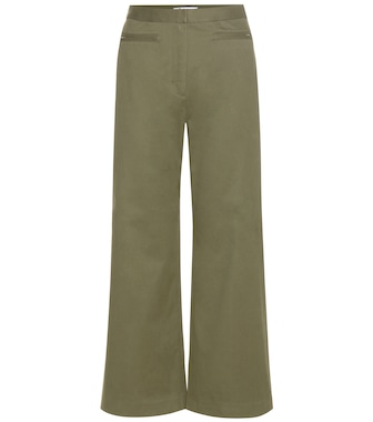 T by Alexander Wang - High-waisted cotton-blend trousers - mytheresa.com
