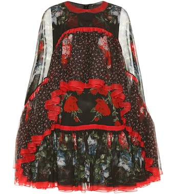 Alexander McQueen - Printed silk mini dress - mytheresa.com