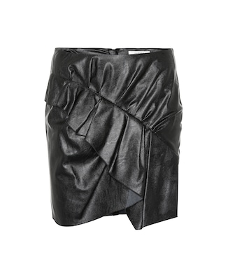 Isabel Marant, Étoile - Zeist ruffled faux leather skirt - mytheresa.com