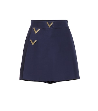 Valentino - Wool and silk shorts - mytheresa.com