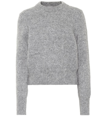 AMI - Wool-blend cropped sweater - mytheresa.com