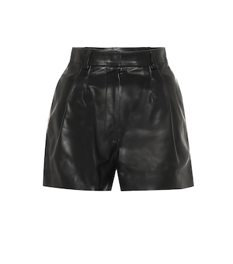 Alaïa - Leather shorts - mytheresa.com