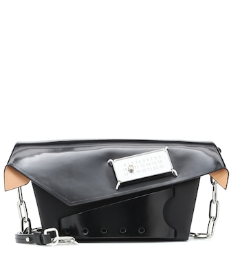 Maison Margiela - Snatched Small patent leather clutch - mytheresa.com