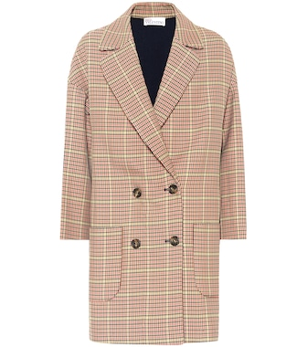 REDV - REDValentino double-breasted houndstooth coat - mytheresa.com