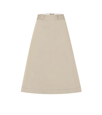 Bottega Veneta - Cotton twill midi skirt - mytheresa.com