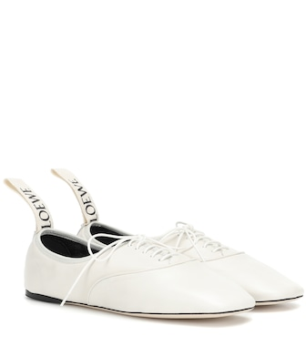 Loewe - Leather Derby shoes - mytheresa.com