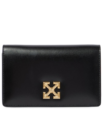 Off-White - Jitney 0.5 leather crossbody bag - mytheresa.com