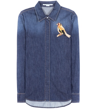 Stella McCartney - Embroidered denim shirt - mytheresa.com
