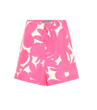 Marni - Linen, cotton and silk shorts - mytheresa.com