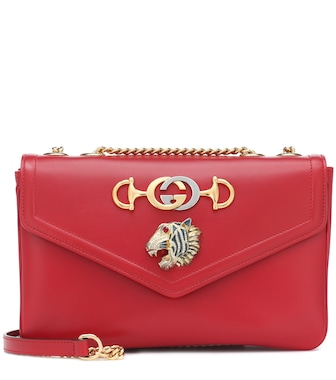 Gucci - Medium Rajah leather shoulder bag - mytheresa.com