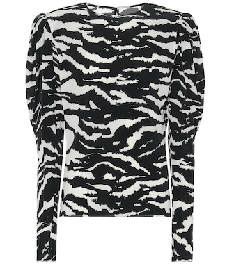 Isabel Marant - Favallia stretch-silk blouse - mytheresa.com