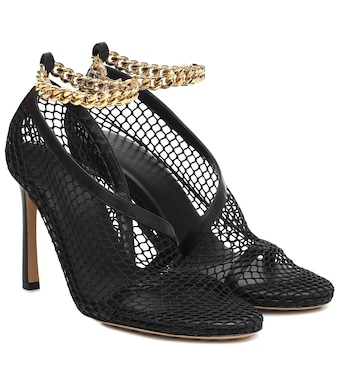 Bottega Veneta - Chain-trimmed mesh pumps - mytheresa.com