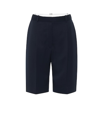 The Row - High-rise wool Bermuda shorts - mytheresa.com