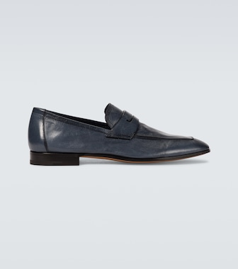 Berluti - Lorenzo leather loafers - mytheresa.com