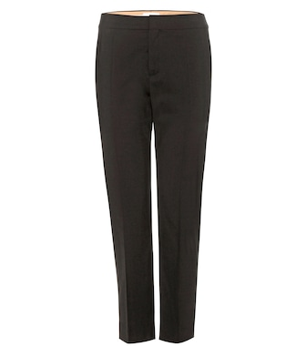Chloé - Cropped wool trousers - mytheresa.com