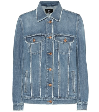 7 For All Mankind - Modern Trucker oversized denim jacket - mytheresa.com