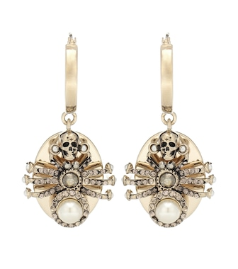 Alexander McQueen - Spider embellished earrings - mytheresa.com